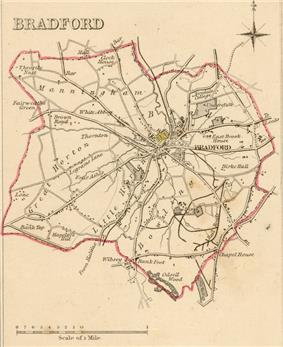 Map of Bradford boundaries in 1835.