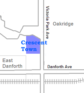 Position of Crescent Town