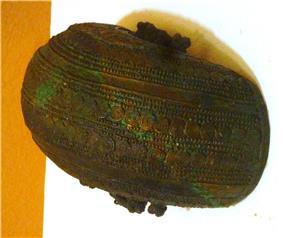 Cresentric bowl, bronze, 9th century, Igbo-Ukwu, Nigeria.JPG