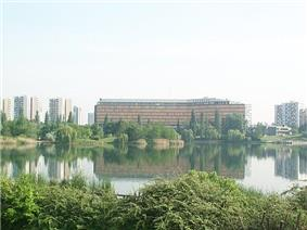 Val-de-Marne prefecture building by the lake