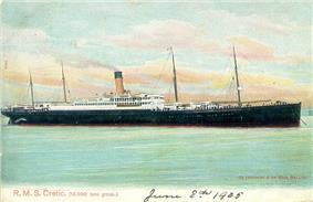 Postcard of SS Cretic, 1905