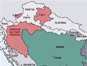 Location of Croatian Military Frontier