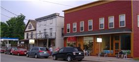 Local grocery store and traditional soda fountain in Main Street, Croghan