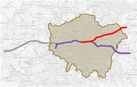 Map of the 4th phase of Crossrail 2019