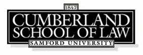 Logo of Cumberland School of Law