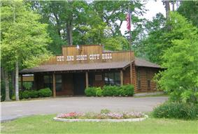 The City Hall of Cut and Shoot, Texas