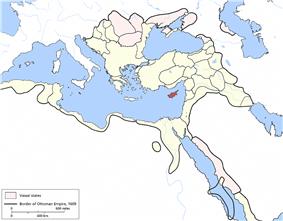 Location of Cyprus