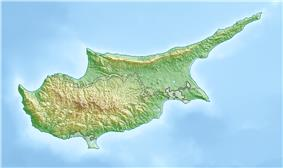 Relief map of Cyprus