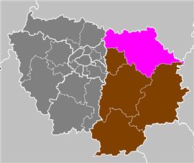 Location of Meaux in Île-de-France