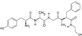 Chemical structure of DAMGO.