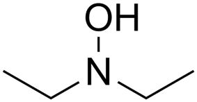 Skeletal formula of diethylhydroxylamine