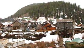 The town of Red Cliff, seen from across the Eagle River