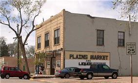 Grocery store on Main Street in Pierce, Colorado