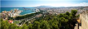 Panoramic view of Málaga from Gibralfaro