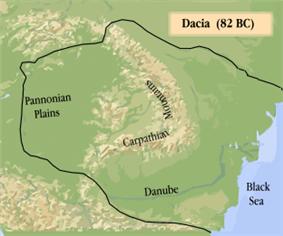 Green relief map bordering the Black Sea