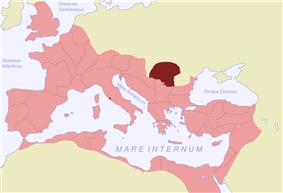 Location of Dacia
