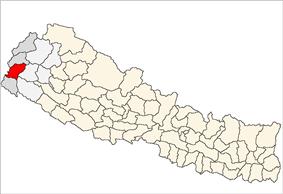 Location of Dadeldhura