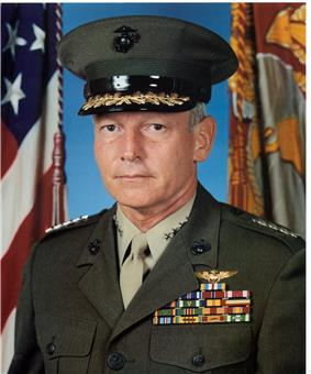 A color image of John Dailey, a white male in his Marine Corps dress uniform
