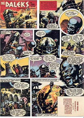 A comics page with eleven panels. The first panel contains the title