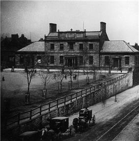 Original Dalhousie University building circa 1871