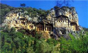 Lycian rock cut tombs of Dalyan