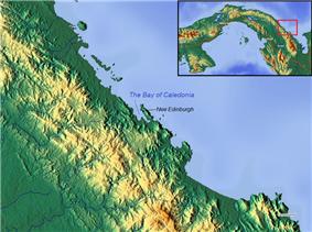 Location of Caledonia
