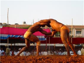 Wrestling match in Davangere (2005)