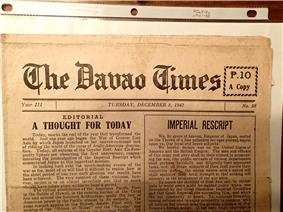 front page old newspaper