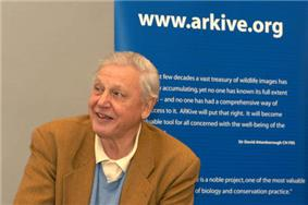 David Attenborough at the launch of Arkive