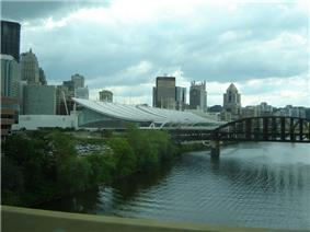 David L. Lawrence Convention Center, Pittsburgh, from a bridge 2006.jpg