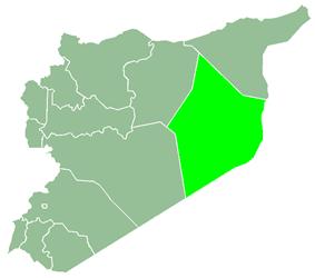 Deir ez-Zor Governorate within Syria