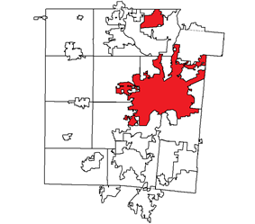 Location in Montgomery County