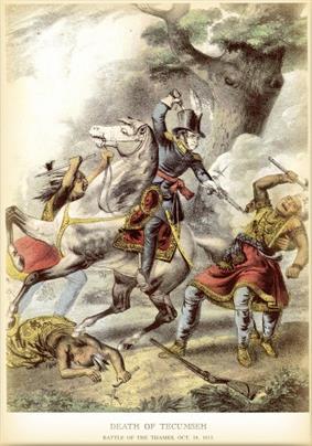 Tecumseh's death at the hands of Richard M. Johnson