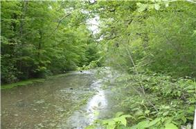 Part of the Miami and Erie Canal Deep Cut, a National Historic Landmark