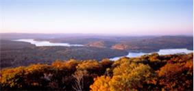 Panoramic View of a lake in Maryland.