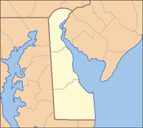 Location of White Clay Creek State Park in Delaware
