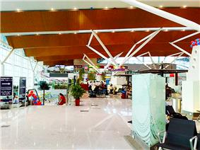 Indira Gandhi International Airport showing Terminal 1D and a passage