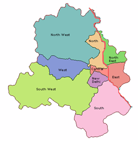 Location of North East Delhi district in Delhi
