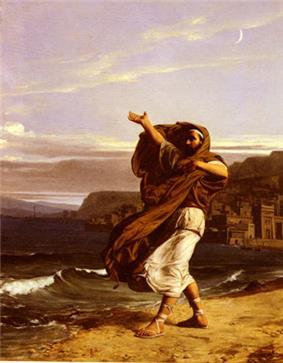 Demosthenes Practicing Oratory