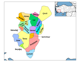 Districts of Denizli