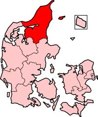 North Jutland County in Denmark
