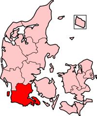 South Jutland County in Denmark