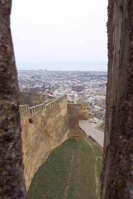 Wall of the Derbent citadel — the only Sassanid fortification in existence