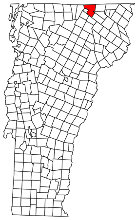 Location of the town of Derby in which the village is located.