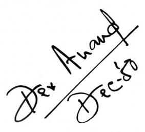 Dev Anand signature