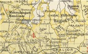 Location of Narsinghgarh
