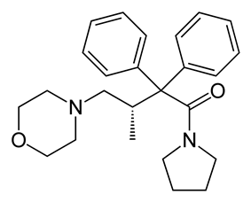 Chemical structure of Dextromoramide.