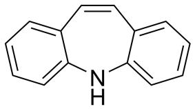 Skeletal formula of dibenzazepine