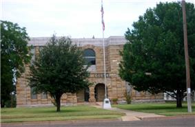 The Dickens County Courthouse in Dickens.