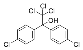 Skeletal formula of dicofol